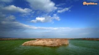 Greece, Thrace, river Evros delta. Drana salt lake