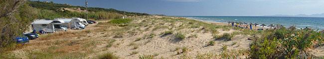 Kastro Kilinis, beach