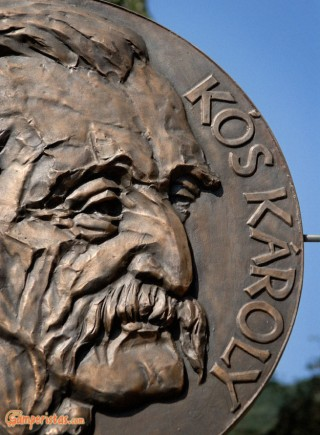 Hungary, Tokaj town, statue of Kos Karoly at Kossuth square