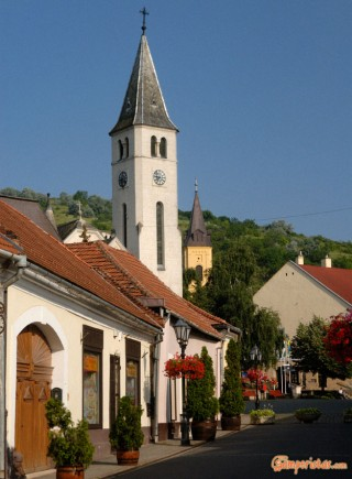 Hungary, Tokaj town, St. Anne roman catholic church