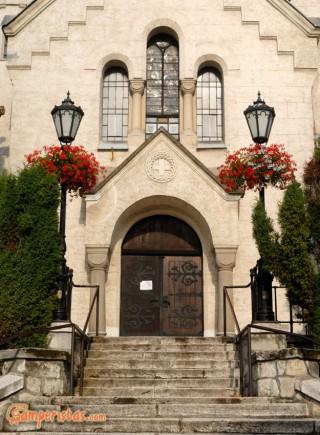 Hungary, Tokaj town, Kossuth square, St. Anne roman catholic church