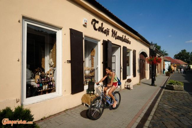 Hungary, Tokaj town, the main pedestrian street (Rakoczi ut)