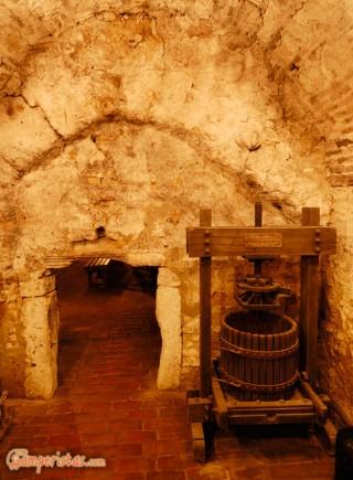 Hungary, Tokaj town, Tokaj Museum, cellars