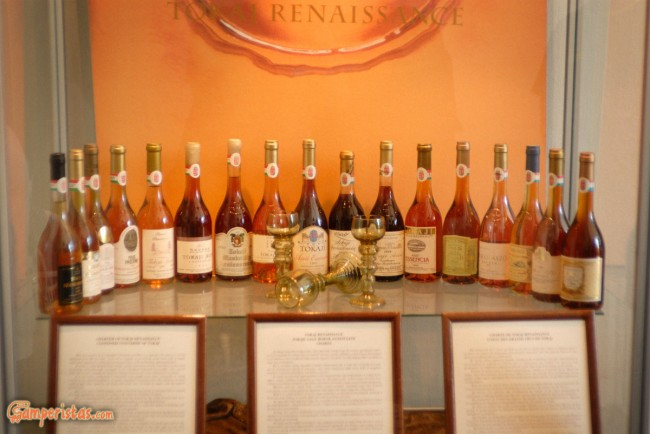 Hungary, Tokaj town, Tokaj Museum, wine bottles
