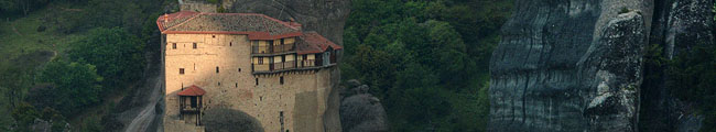 Greece, Meteora, Roussanou Monastery