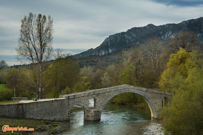 Greece, Grevena, Ziaka Bridge