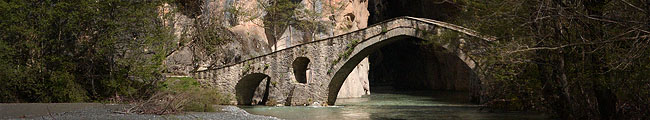 Greece, Spileo, Portitsa Bridge