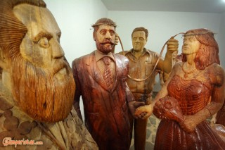 Crete, Axos, Wooden sculpture museum