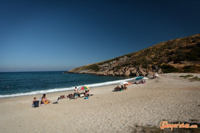 Greece, Euboea (Evia), Mageiras beach
