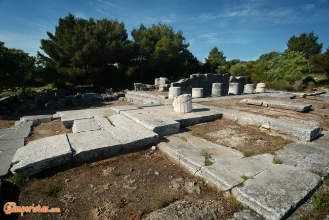 Greece, Attica, Ramnous archaelogical site