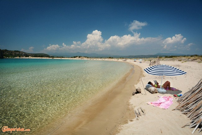 Greece, Peloponnese, Voidokilia Beach