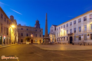 FRANCE : PROVENCE : ARLESPlace de la Republique. Night view