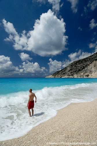 Greece, Eptanese, Kefalonia, Mirtos beach