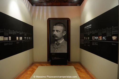 La sala dedicata all'architetto Luigi Manini, creatore di questo capolavoro.
