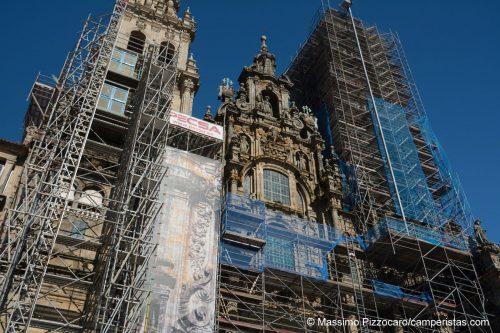 La famosa cattedrale di Santiago. Anche se in ristrutturazione, rimane impressionante.