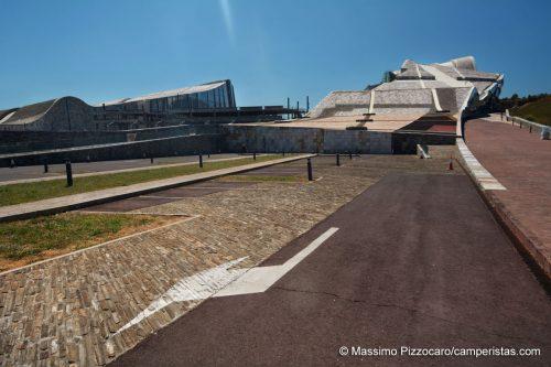 Il complesso Gaias, la città della cultura a Santiago di Compostela.