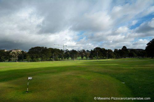 Il parco di Bruntsfield, con campo da golf pubblico