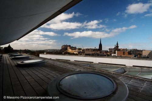 La splendida vista dal terrazzo al settimo piano