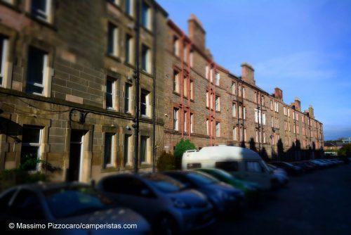 L'ultimo dei nostri parcheggi a Edimburgo, vicini a Gorgie Street. VIcino al centro e tranquillo.