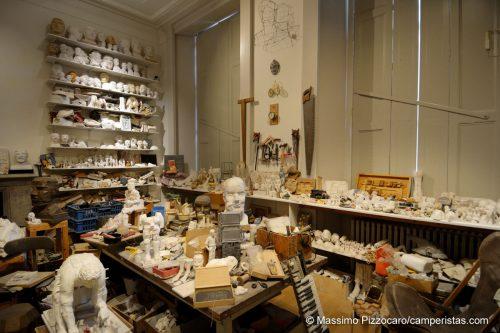 Il laboratorio di Eduardo Paolozzi.