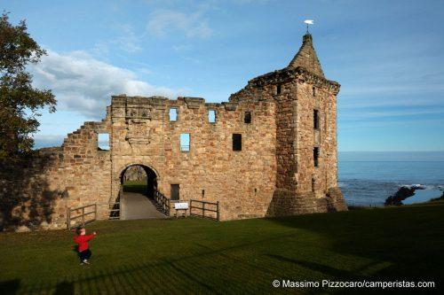 Il castello di St. Andrews o quello che ne rimane.
