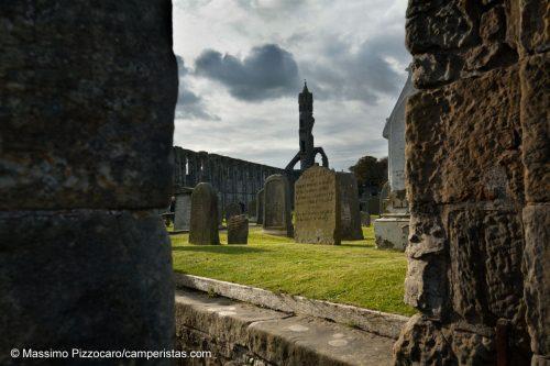 Il sito della cattedrale di St. Andrews.