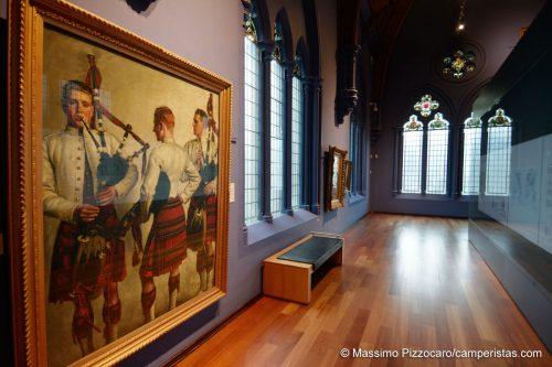 L'interno del museo di Dundee