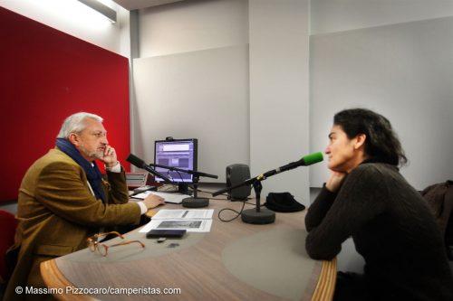 E anche un po' di lavoro, al palais de la Radio, Elissavet intervistata da Jose Manuel Lamarque.